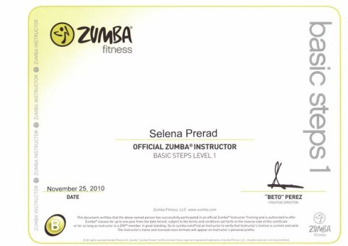 Selena-Zumba-Sertifikat